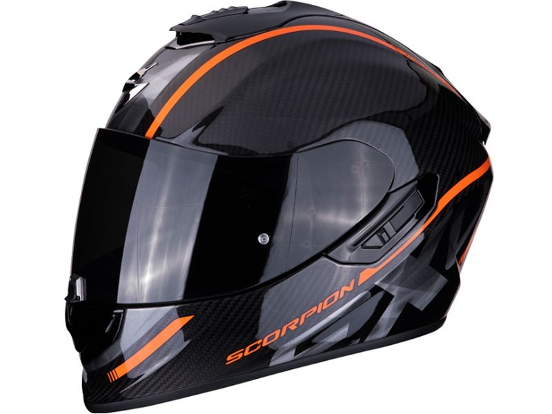 casco scorpion exo 1400 air carbon grand naranja. Black Bedroom Furniture Sets. Home Design Ideas